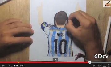 DC6 on Twitter teammessi Dibujo de Messi celebrando gol vs