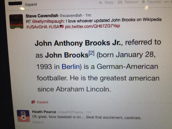 John Brooks's updated Wikipedia page made me laugh http://t.co/EjSk2s2i8Z