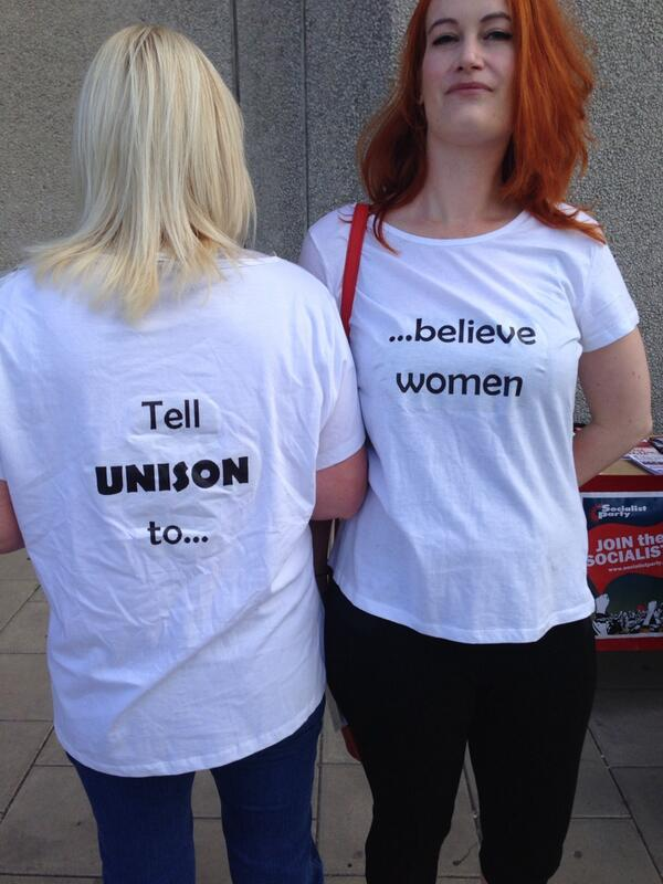 Awesome UNISON women rocking today's must have t-shirts #ibelieveher #undc14 http://t.co/TmYLs2LJeg