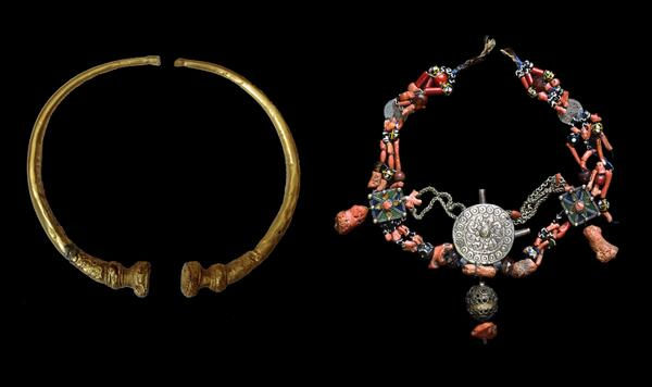 Gold torc from #BEL and a necklace from #ALG http://t.co/VMw6hFEsQU http://t.co/JJJojGxlrz #WorldCup http://t.co/SPH296qQJJ