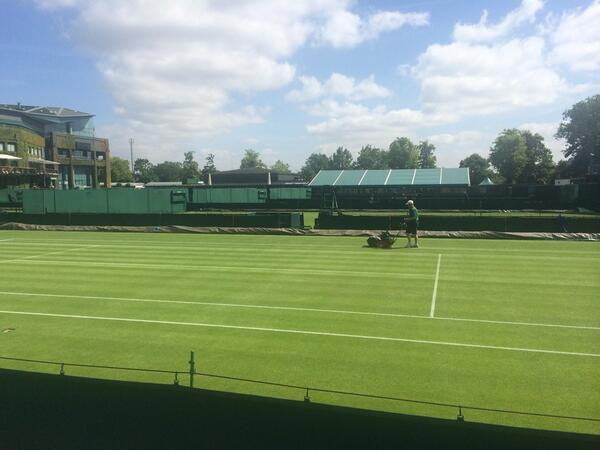 Courts being mown again today #6DaysToGo http://t.co/AMViGqENJH