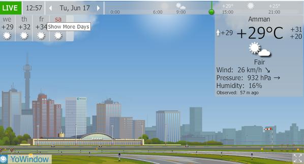 بأمكانكم الآن تعرفوا حالة الطقس من خلال موقعنا على هذا الرابط. http://goo.gl/7RN8sh #Jo #JoWeather