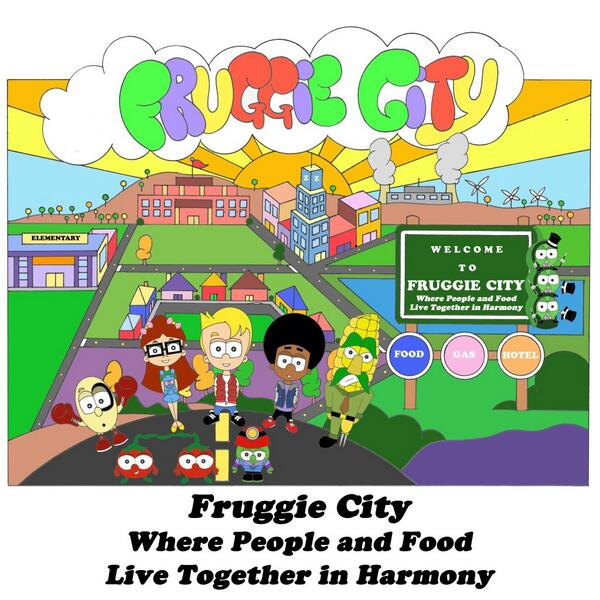Fruggie City, a place where people & food live together in Harmony. #glutenfree #friends #animation #food #allergies http://t.co/FZfOLmbqMr