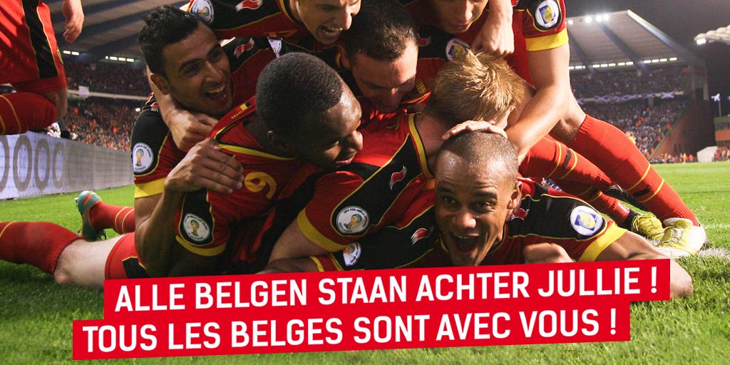 Twitter / eliodirupo: RT: Tous les Belges sont avec ...