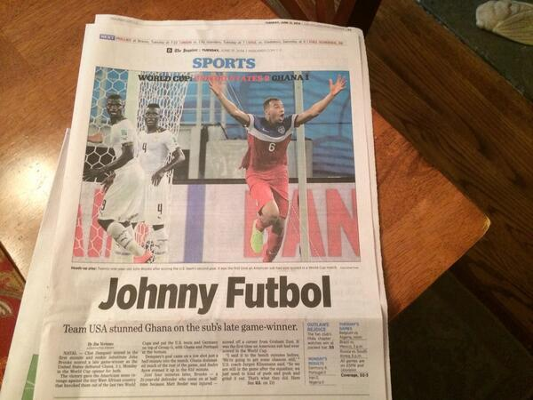 The @PhillyInquirer with today's winning #WorldCup headline (h/t @jensenoffcampus) http://t.co/aF4bRSHolU