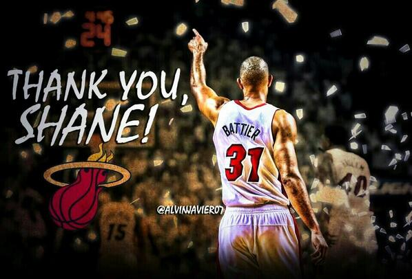 No, thank you! Heck of a run.  RT @miami__305: Thank u shane battier for everything u have done #heatnation RT RT RT http://t.co/tkXXsfizuH