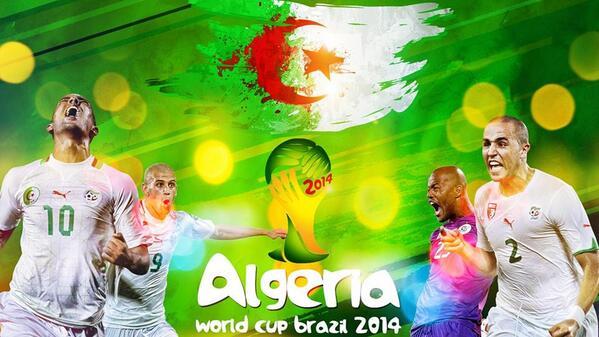 كل الدعم للمنتخب الجزائري ممثل العرب الوحيد في مونديال البرازيل 2014. #ALG #الجزائر #الجزائر_في_المونديال