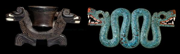 Bowl with two jaguars from #BRA and serpent mosaic from #MEX http://t.co/i8YwxctfPK http://t.co/BVejzmIfCY #WorldCup http://t.co/9sSXHUnzFu
