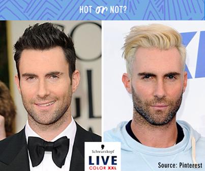 Maroon 5 Frontman Adam Levine Has Coloured His Quiff Platinum Blonde What Do We Think