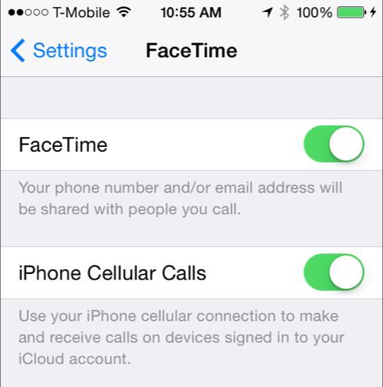 facetime cellular