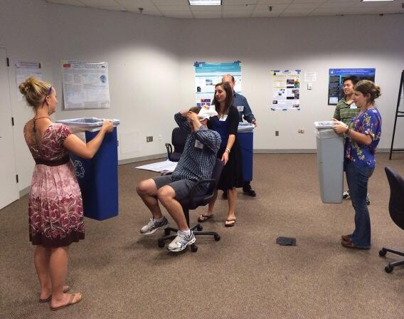 Fascinating listening to clicking students! RT@ProfParksSU: Echolocation experiments #seabass2014 http://t.co/L2OmYUCCfV""
