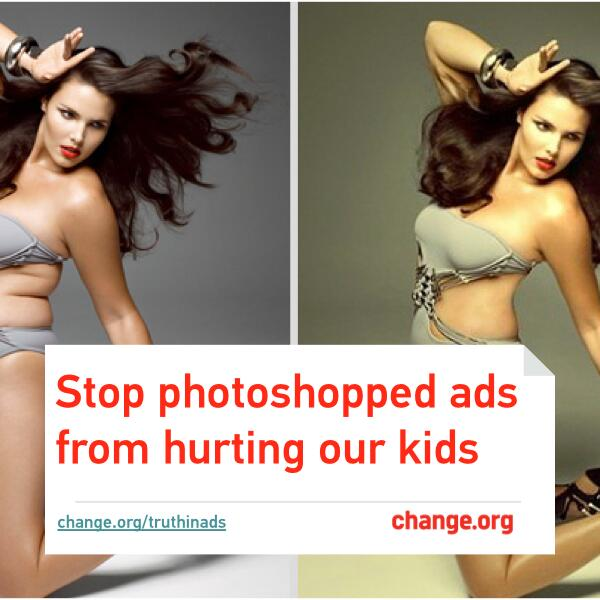 'These ads are weapons of mass perfection & their casualties are stark.' Sign & share here: chn.ge/SQGNkB