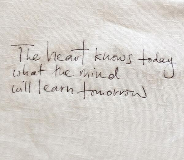 """@ThamKhaiMeng: The heart knows today what the mind will learn tomorrow. #ogilvycannes #canneslions http://t.co/CxxsKATcgN"""