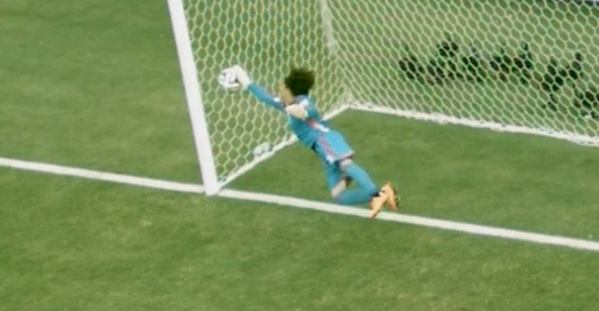 What. A. Save! Guillermo Ochoa v Neymar during Brazil v Mexico