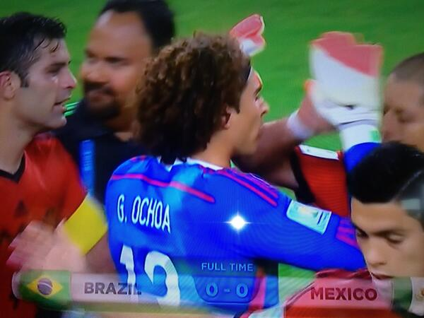 Mexico's secret weapon #Ochoa what a great result for El Tri! @PatriotAM1150 #WorldCup2014 http://t.co/y8henwEGc5