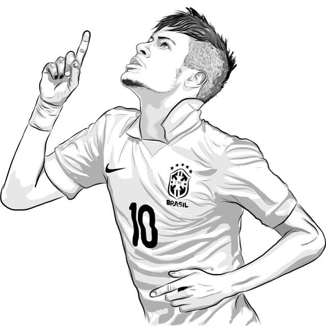 soccer coloring pages neymar barcelona - photo#33