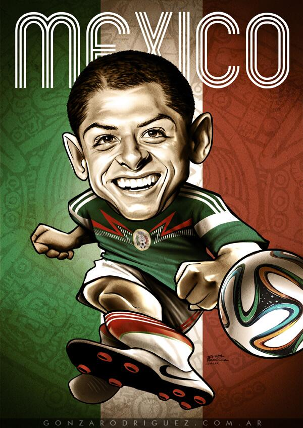 "Gonza Rodriguez on Twitter: ""Caricatura de #Chicharito # ..."