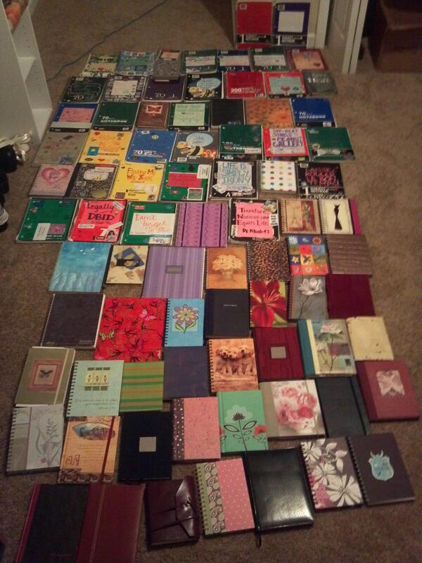 @NaNoWriMo All my journals from 1998 to 2011. One day I'll take an updated version. http://t.co/jVPj69V5ym