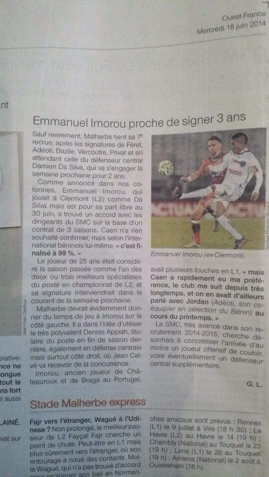 [Arrivée] E.Imorou / Clermont (FC) BqY47duCEAAlNmN