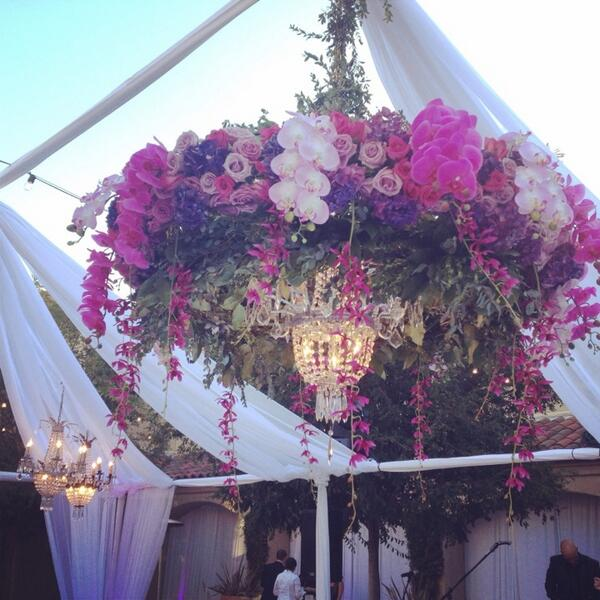 Dazzling chandelier of radiant orchids tonight! @theknot #theknotrocksoc @flowersbycina http://t.co/tMsvk8KfIb