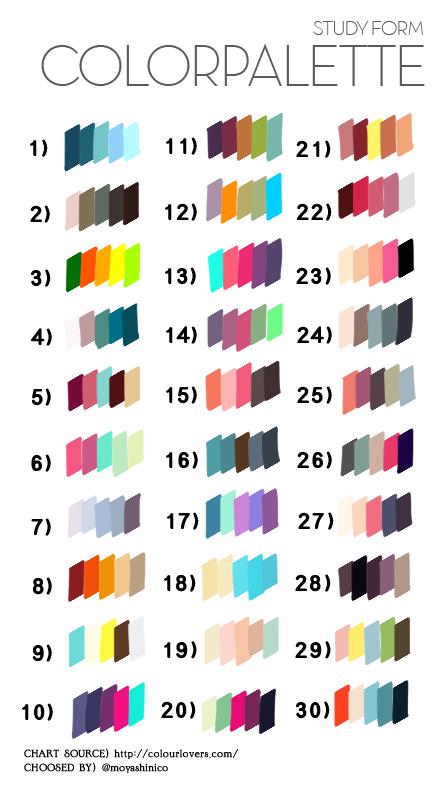 最近外国で「カラーパレットからリクエストされた番号のカラーを使って描く」という面白い何かが流行りなんですが、たまに使ってみようかと思って個人的な用途のために作ってみました。使いたい方はどうぞ。