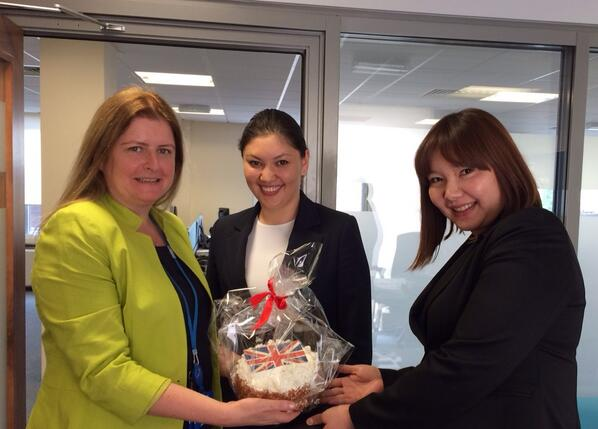 Thanks to our friends from #Hyatt #Bishkek for a lovely cake to celebrate HM The Queen's Birthday! http://t.co/MxELHMkOqp