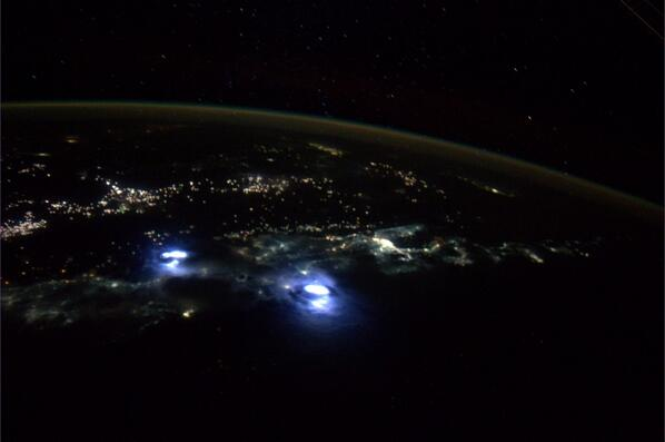 Lightning Storm Seen From Space Captured By Astronaut Reid Wiseman