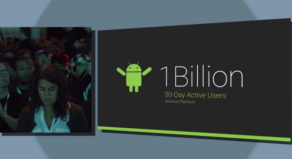 Sundar says over 1B 30-day active users. #GoogleIO2014 http://t.co/CTFHKdcSAc