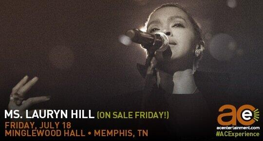 Excited to announce the indelible @MsLaurynHill's first-ever #Memphis show @MinglewoodHall next month! On sale Fri! http://t.co/h7bS80EMrR