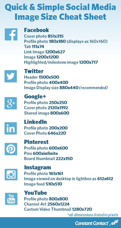 Twitter / JDWheelerCo: 2014 Social Media Image Size ...