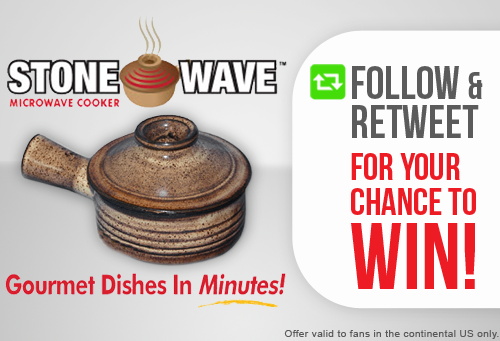 #GIVEAWAY! Follow & RT for your chance to win #AsSeenOnTV #Stonewave gourmet microwave cooker! http://t.co/HkJxHhwtGf http://t.co/7AirUMuS59