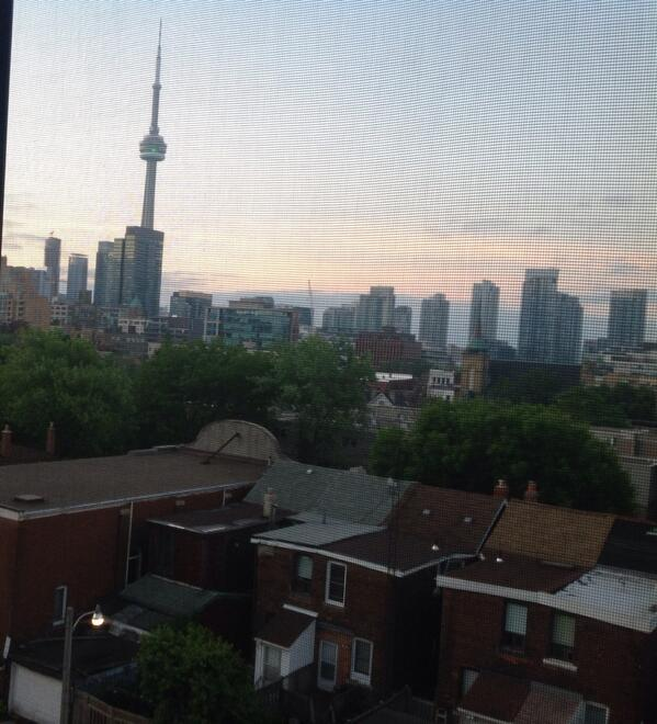 On first day of @nxne, here' view thru window of my Toronto room.  A highlight today will be keynote by @marcmaron. http://t.co/65TDgp17ye