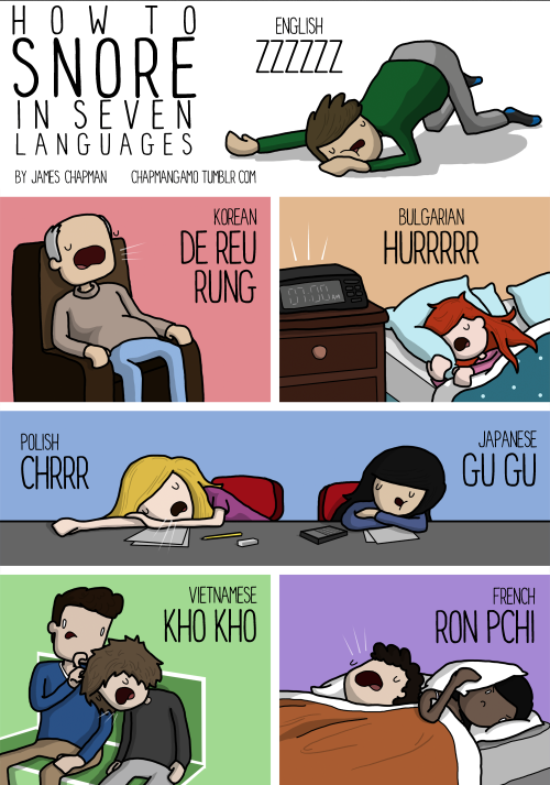Twitter / LinguaLinx: Snoring in different #languages ...