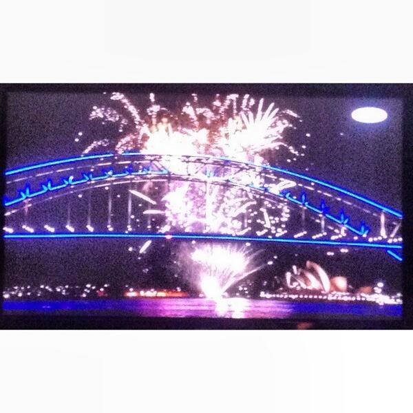 The Sydney Harbour Bridge looks so beautiful BLUE
