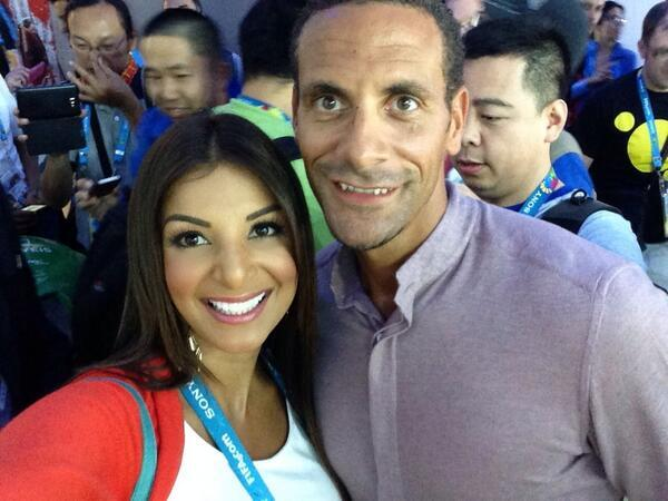 "TopRatedBettingSites on Twitter: ""Rio Ferdinand with Costa Rican football  journalist Jale Berahimi http://t.co/oPAl5JFuId"""