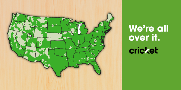 Cricket Wireless On Twitter Nationwide Coverage Friendly - Cricket wireless coverage map