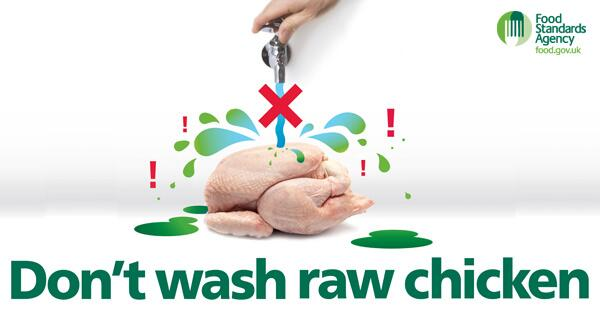 Nhs On Twitter Washing Raw Chicken Puts You At Risk Of Food
