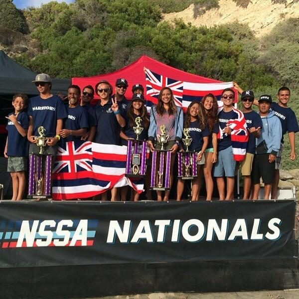 Congrats to the Kamehameha School's Surf Team who clinched their first NSSA national championship. http://t.co/MkTVNn4qbd