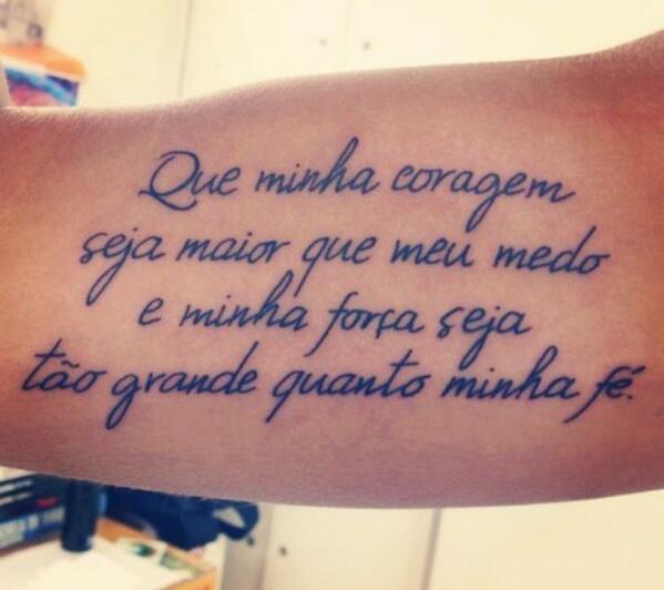 Tatuajes On Twitter Que Mi Coraje Sea Mas Grande Que Mis Miedos Y