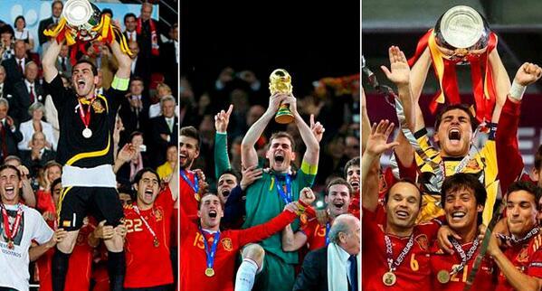 GRACIAS DE CORAZÓN por 6 años de gloria cuando muchos pensábamos que moriríamos sin ver a España levantar un título http://t.co/Jq75wb8joh
