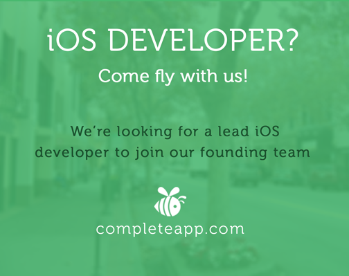 http://t.co/3wpcTOdNKo is hiring an #ios developer to join our founding team. #joblisting #JobOpening #hiring http://t.co/GAZOzjUTQl