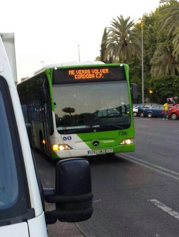 ".@aucorsa lleva hoy en los paneles de su flota el ""Me verás volver"".  #CCFLasPalmas  vía @Manglss http://t.co/tR1d2zTxJR"
