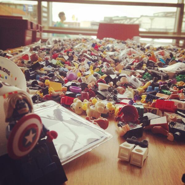 Free #LEGO #minifigs for everyone at #IDCdk.. Right next to the registration desk. @idc2014 #Awesome http://t.co/2vQz3dXmRO