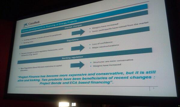 A. Jofre (@infoCaixa): organization's experience in financing energy projects. #KIMconference2014 #innovationbcn2014 http://t.co/XVEGuharfK