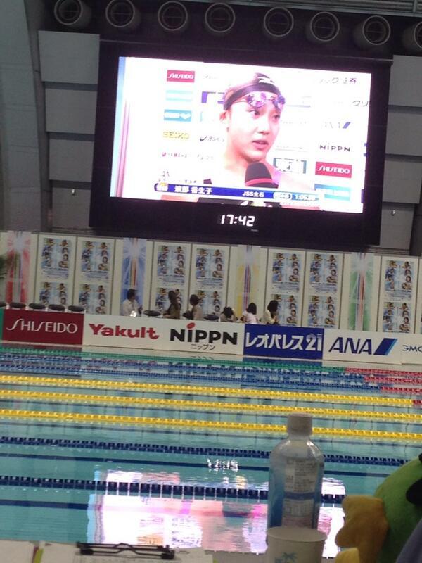 かなちゃん、日本記録おめでとう〜( ´ ▽ ` )ノ1分5秒って、ホントはやーい!! http://t.co/3G0HqGDoBF