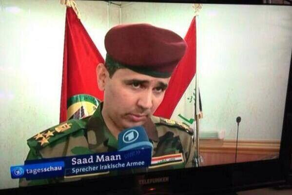 Speaker of the Iraqi Army. His name can't be more right http://t.co/J6wGaUtj5s