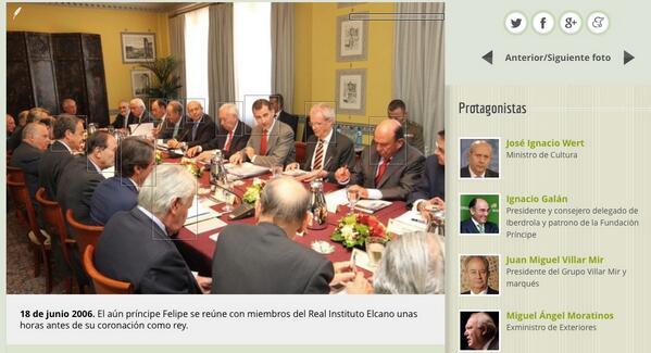 Aquí Felipe VI hablando de la renovación con Botín, Galán, Villar-Mir, González, Aznar… http://t.co/2fj2uTjQoF http://t.co/meRWLMrxq4