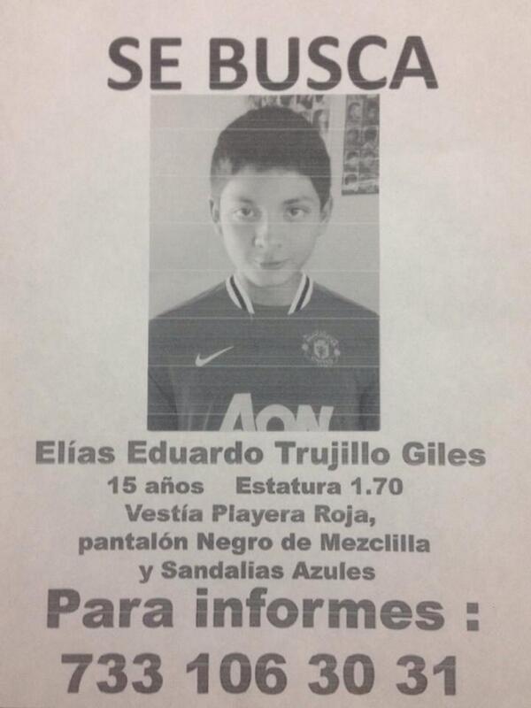 Pedimos su ayuda para localizar a este jovencito! Gracias por difundir! http://t.co/m9x6gMacDZ