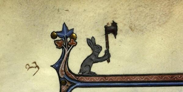 Killer Rabbits in Medieval Manuscripts, before Monthy Python | Sexy Codicology http://t.co/aSefmtCgpt http://t.co/PTG7Gzl3tL