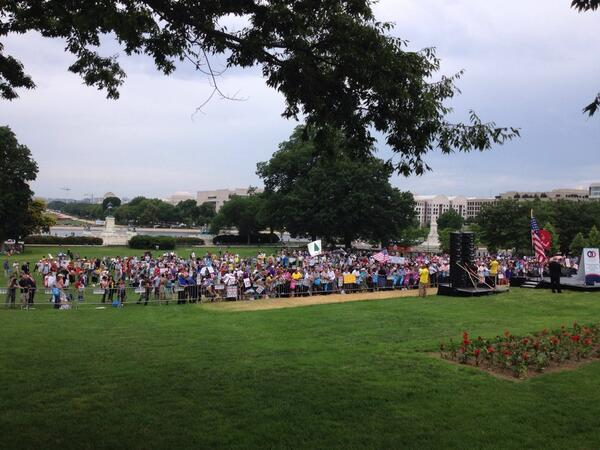 Thumbnail for Guess How Many People Bothered To Show Up For NOM's 'March For Marriage' Hate Rally?